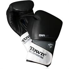 PunchTown Black BXR Boxing Gloves